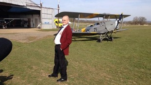 Al Murray failed to parachute into Kent this morning