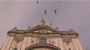 The Chinooks flew over St Paul's