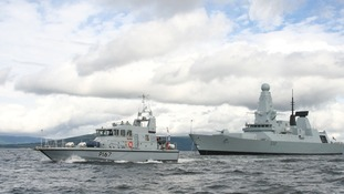 Royal Navy to escort flame in Solent