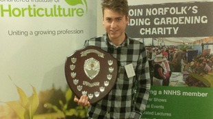 Sam Moore with his regional award
