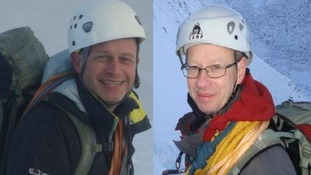 Steve Barber, 47, (left) and John Taylor, 48, were killed in an avalanche in the French Alps on Thursday