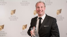 Robert Murphy with his RTS award
