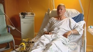 Tomas Dybro, who survived the avalanche in the French Alps, talks to ITV News from his hospital bed.