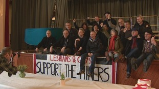 Members of Lesbians and Gays Support the Miners returned to Onllwyn Welfare Hall