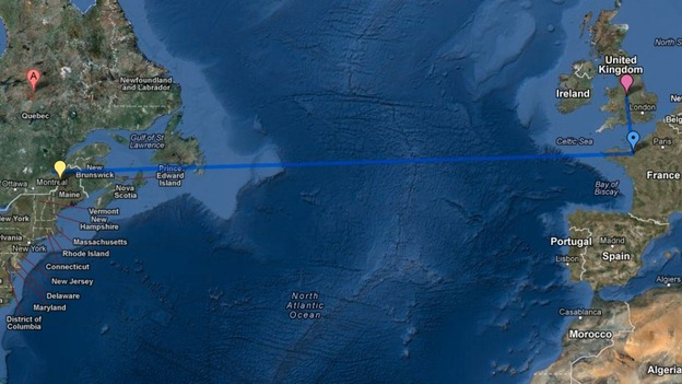 The pigeon travelled 3000 miles instead of 300 miles