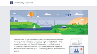 Facebook's new Community Standards.