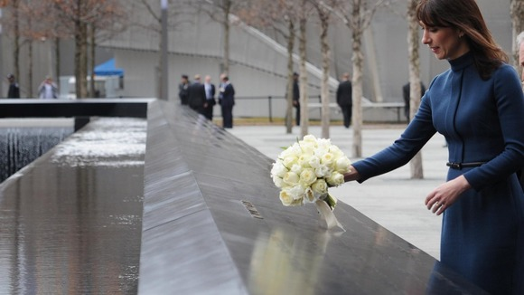 Samantha Cameron visits Ground Zero site