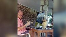 Noel Coward painting