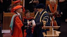 Alistair Stewart receives his Honorary Doctorate