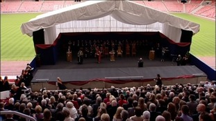 The ceremony took place at the Stadium of Light.