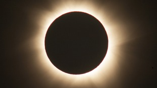 View of the solar eclipse in 2012 in Australia
