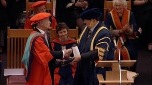 Alastair Stewart receives his Honorary Doctorate
