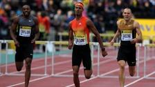 Javier Culson beats Dai Greene in the 400m hurdles