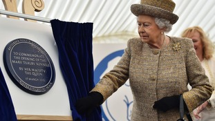 The Queen officially opened the home's new Mary Tealby Kennels