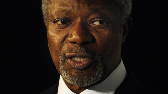 International mediator Kofi Annan