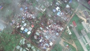 A picture of Port Vila after the cyclone