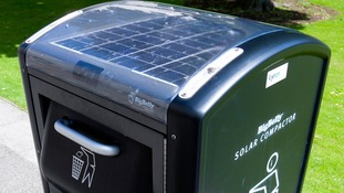 solar powered rubbish compactor