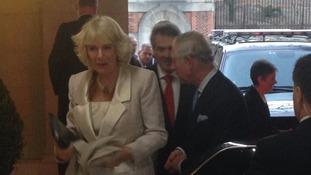 Prince Charles and Camilla arrive at the British Embassy in Washington.