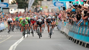 Cyclists in Tour of Britain