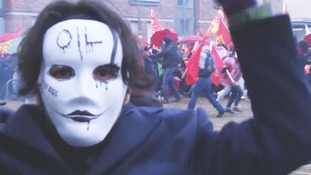 Thousands of protesters have clashed with police