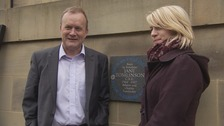 Mike & Suzanne Tomlinson unveiled Jane's plaque