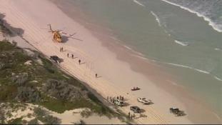 Emergency teams near Wedge Island