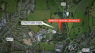 The girl was attacked in an alleyway near Stratford Park in Stroud