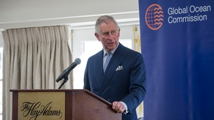 Prince Charles promotes the reduction of plastic waste in the marine environmen.