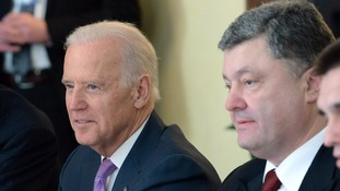 US Vice President Joe Biden and Ukrainian President Petro Poroshenko.