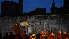 The Games of Thrones series 5 premiere took place at the Tower of London.