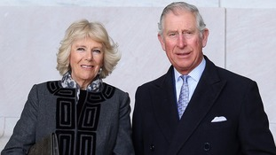 Prince Charles and the Duchess of Cornwall at the Lincoln Memorial.