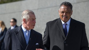 The Prince of Wales and civil rights leader Dr. Jesse Jackson.