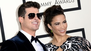 Robin Thicke and Paula Patton pictured in January last year.