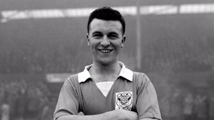 Jimmy Armfield, Blackpool's 20-year-old right back, pictured in 1956