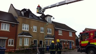 Fire crews remain on the scene of a fatal house fire in Haverhill, Suffolk.
