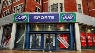 A closed JJB Sports shop