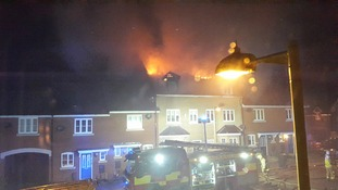 The fire at Haverhill in Suffolk.