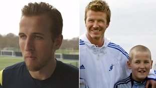 Harry Kane follows footsteps of Beckham to England team.