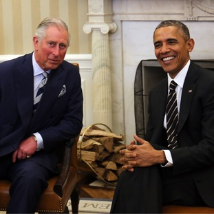 Prince Charles and Barack Obama in the White House today