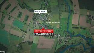 Fatal house fire at Eastgate Street, North Elmham.