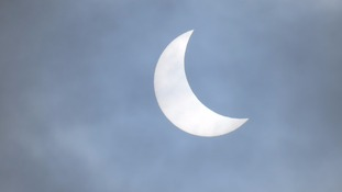 The partial eclipse as seen from Hemyock, Devon