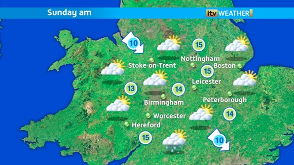 Sunday morning&#x27;s weather at ITV Central