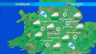Sunday morning's weather at ITV Central