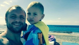 Michael Graydon, pictured with his son Reuben