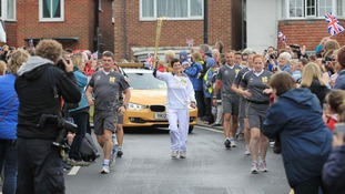 "Dame Ellen said she felt ""privileged"" to take part in the Olympic torch relay"