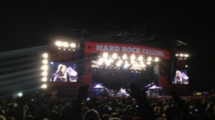 The Hyde Park stage in London.