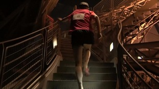 Nearly 60 athletes took part in the inaugural race 'The Vertical' up the Eiffel Tower
