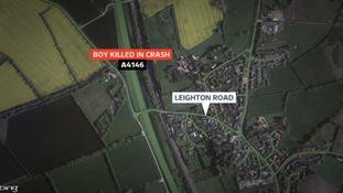 Location of crash in Stoke Hammond