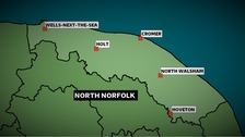 North Norfolk was one of four seats the Liberal Democrats won in the Anglia region at the 2010 Election.  The majority is nearly 12,000.