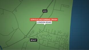 Location of crash in Kessingland, Suffolk